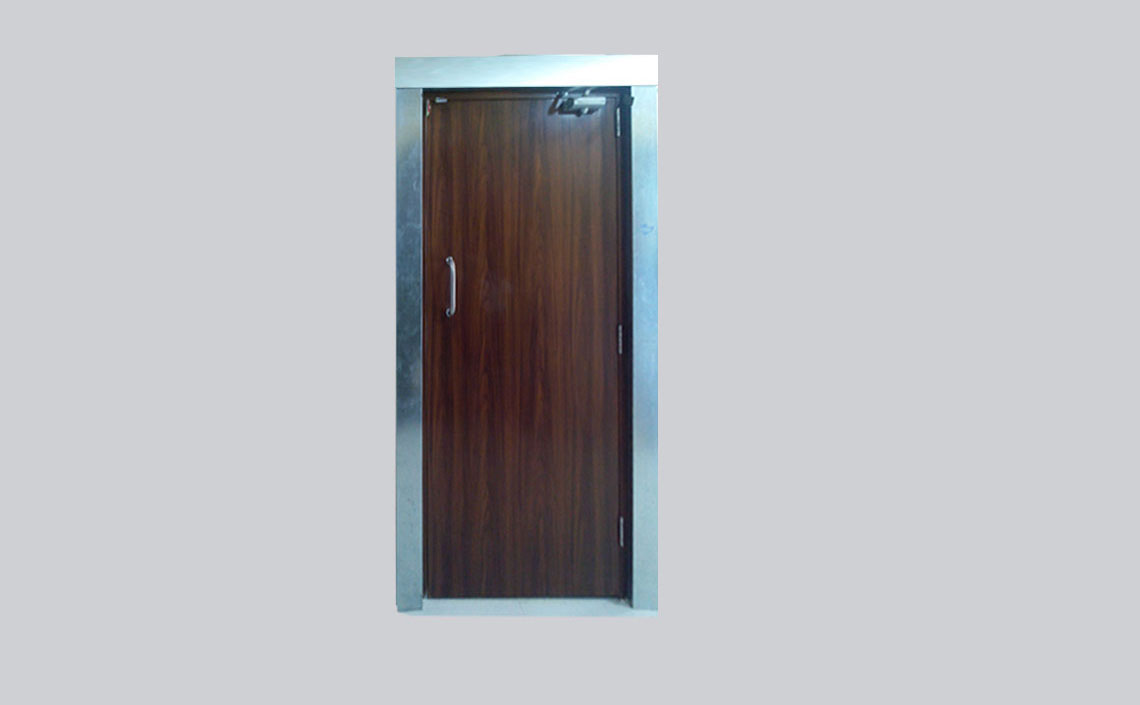 Anjali Enterprises Wood Finished Metal Doors